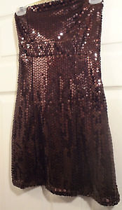 Copper Color Sequin dress Size small