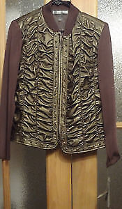 Peter Nygard Leather / Material Coat Size Medium WITH TAGS