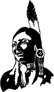 Indian Type C Native American Vinyl Decal Your Color Choice Sticker