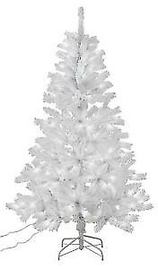 7ft Pre-lit Snow Tipped Christmas Tree - White