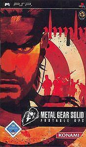 [PSP] Metal Gear Solid Portable Ops Duits