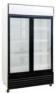 Double Glass Door Fridge DFS1000 1000 Litre - Catering Equipment Campbellfield Hume Area Preview