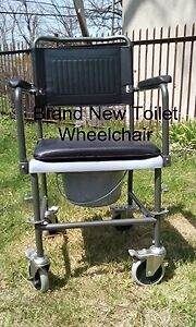 COMMODE TOILET TRANSPORTER WHEELCHAIR DROP ARM -