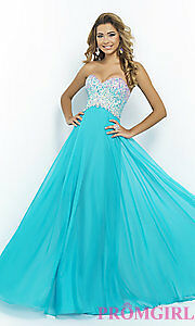 Prom Dress, Size 6, Color: Sea (blue)