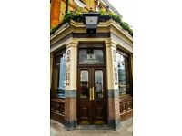 Experienced Manager & Bar Staff - Marylebone & Battersea London