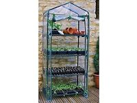 4 Tier Shelf Vertical Stand Greenhouse Deck Balcony Small Space Structure (x2)