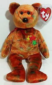 Kanata the Canadian Bear Ty Beanie Baby - British Columbia tag