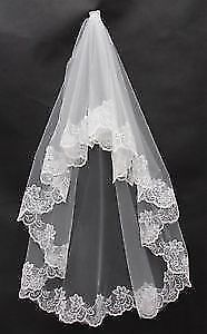 Wedding Veil Beautiful And New! Lace Edge short or 3 meters long