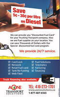 SAVE ON DIESEL –GREAT DEALS !!!!!