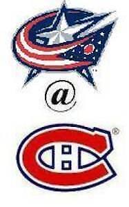 CANADIENS VS COLUMBUS BLANC MARDI LE 19 FEV.(2X303CC)