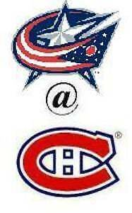 CANADIENS VS COLUMBUS BLANC MARDI LE 19 FEV.(2X303CC)