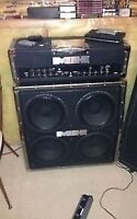 Fender metal head 500 half stack c/w foot switch