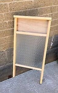 VINTAGE Antique Canadian Woodenware Large Washboard -NEW! -$45