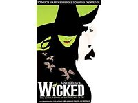 2xTickets + 2xFree 2 Course meals to The Wicked.29th May 2018 @ Apollo Victoria Theatre.