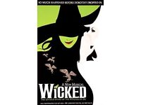 Wicked Tickets Bradford Alhambra Sat 30th July 2pm
