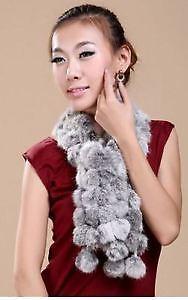 Mode hiver femmes Faux fourrure de lapin écharpe châle.