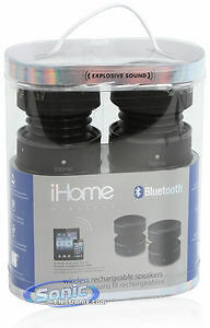 iHome Bluetooth Rechargeable Stereo Speakers