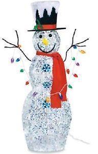 Lighted Snowman | eBay:Outdoor Lighted Snowman,Lighting