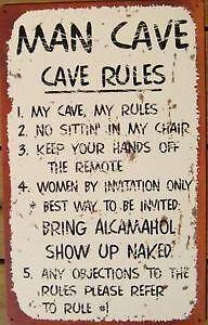 Man Cave Sign Ebay
