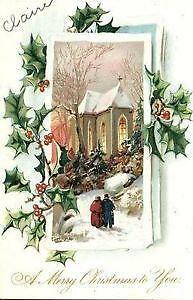 antique christmas postcards