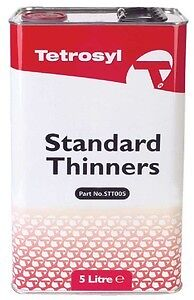 TETROSYL 5L STANDARD CELLULOSE PAINT THINNERS CLEANER DEGREASING SOLVENT STT005