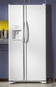Maytag Side by Side Refrigerator MSD2456GEW with ice/water