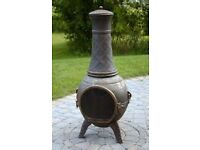 Garden Chiminea with cover