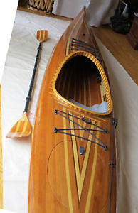 One of a kind, hand-crafted cedar kayak