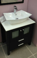 "* SALE * Solid Wood 28"" Bathroom Vanity with Overmount Sik"