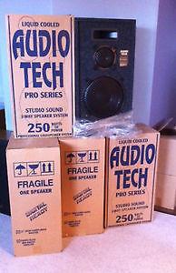 Liquid Cooled Audio Tech Pro 250 watt speakers x 2 Windsor Region Ontario image 1