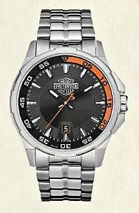 HARLEY-DAVIDSON MEN'S BULOVA DASHBOARD WATCH W/ CALENDAR 76B170