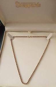 9ct Gold Rope Chain/Necklace North Haven Port Adelaide Area Preview