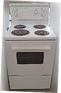 apartment size electric stove roper 24 wide white excelle