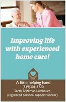 Private personal support worker/home-care