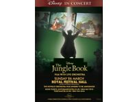 4 Tickets to Jungle Book viewing withi live Orchestra, Royal Festival Hall