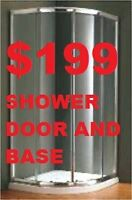 SHOWER ENCLOSURE.SHOWER DOOR.BATHROOM VANITY $186
