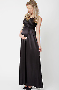 Maternity evening dress size large in black