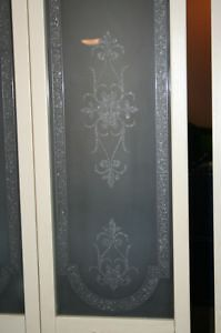 Decorative Bifold Wood Door with Glass Panel trimmed w/Brass West Island Greater Montréal image 2