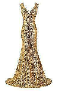 6fc2307f769 Gold Sequin Prom Dresses