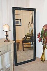Large Black Antique Design Full length mirror