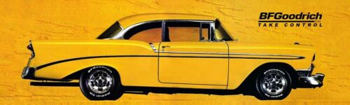 """REPRODUCTION BF GOODRICH 1956 Chevy Yellow Banner 12""""x40"""""""