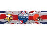 NFL MINNESOTA VIKINGS v CLEVELAND BROWNS - BLOCK L22 ROW 17 - TWICKENHAM STADIUM - SUN 29/10!