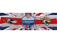 1x NFL Wembley Baltimore Ravens vs Jacksonville Jaguars Block 124 Lower sideline single ticket only