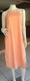 Light Orange with Deep Split Casual Midi Dress Size 8-12