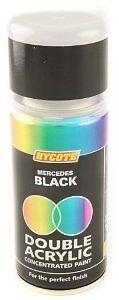 x6 - Double Acrylic Hycote Mercedes Paint  Black 150ml XDMC401
