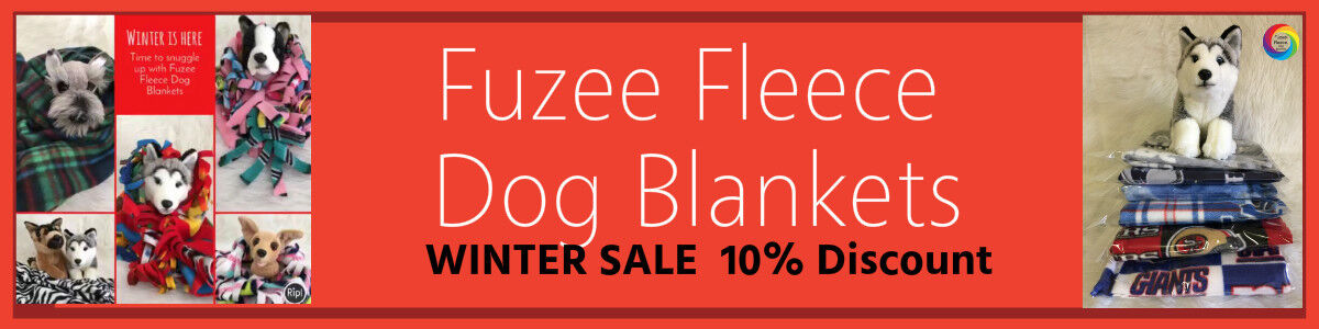 Fuzee Fleece Dog Blankets