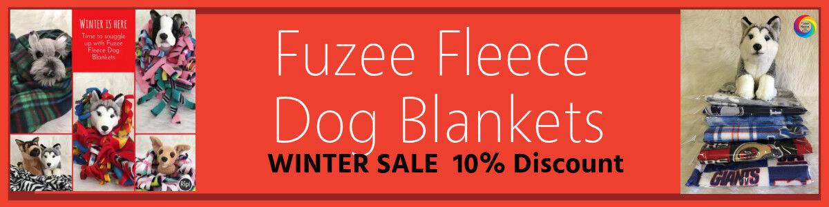 Fuzee Fleece Dog Blankets