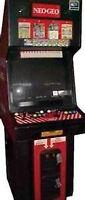 WANTED NEO GEO MVS ARCADE MACHINE OR GAMES