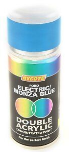 Double Acrylic Hycote Ford Paint Electric Monza Blue 150ml XDFD211