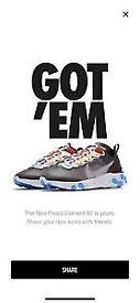 Brand New Nike Element React 87 size UK 8.5